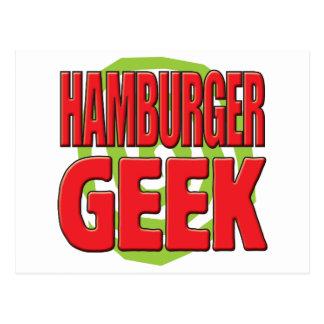 Hamburger Geek Postcard