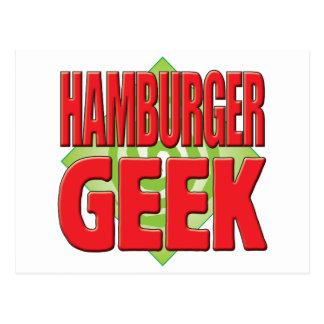 Hamburger Geek v2 Postcard
