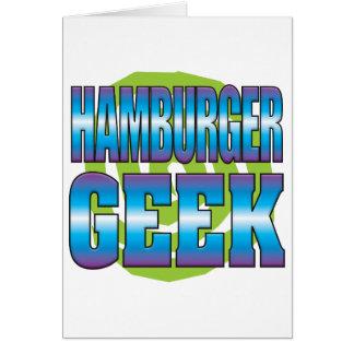 Hamburger Geek v3 Greeting Card
