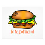 Hamburger Good Times Personalized Invite