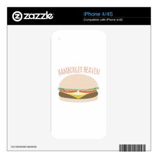 Hamburger Heaven iPhone 4S Decal