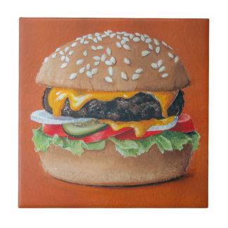 Hamburger Illustration ceramic tiles