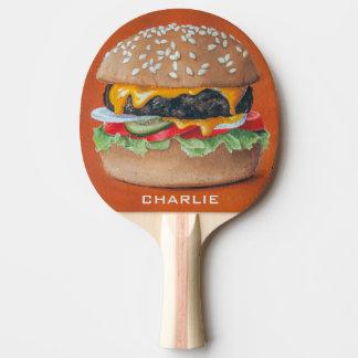 Hamburger Illustration custom name pingpong paddle