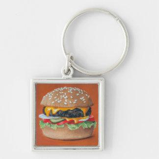 Hamburger Illustration key chains