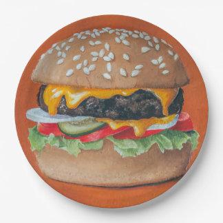 Hamburger Illustration paper plates