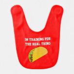 Hamburger In Training Baby Bib