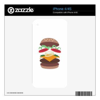 Hamburger iPhone 4S Decal