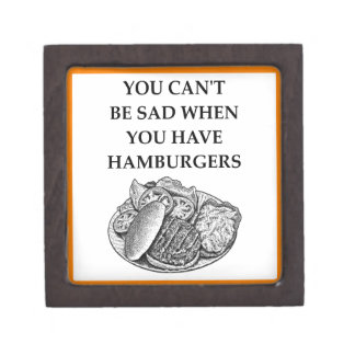 HAMBURGER JEWELRY BOX