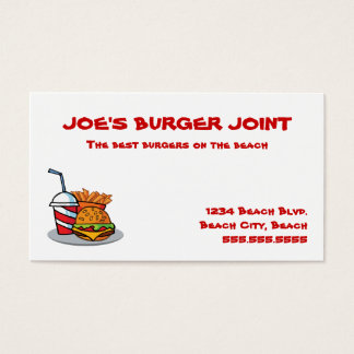 Hamburger Joint Business Cards