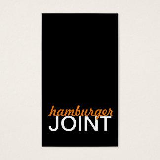hamburger joint punch card
