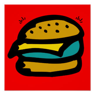 hamburger kid poster