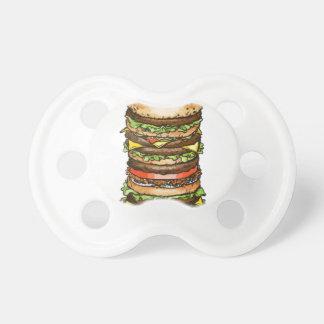 hamburger life and joy baby pacifiers