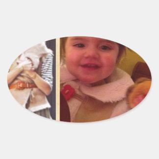 Hamburger Little Girls Oval Sticker