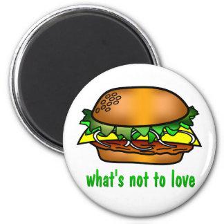 Hamburger Love Magnets