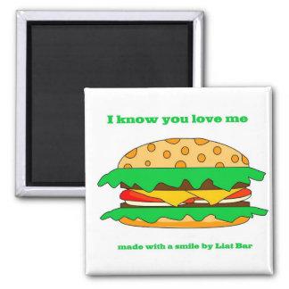hamburger love refrigerator magnets
