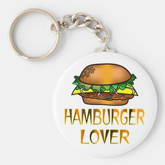 Hamburger Lover Keychain