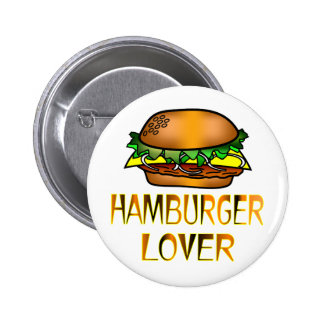 Hamburger Lover Pinback Button