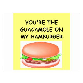 hamburger lover post card