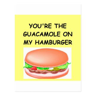 hamburger lover postcard