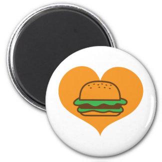 Hamburger lover refrigerator magnet