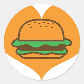 Hamburger lover sticker