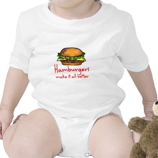 Hamburger Lover Tee Shirts