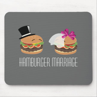 Hamburger Marriage -- ASL play on words Mouse Pad
