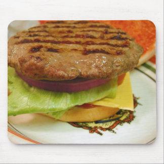 Hamburger Meat Patty Patties Lettuce Tomatoes Buns Mousepads