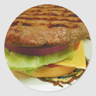 Hamburger Meat Patty Patties Lettuce Tomatoes Buns Sticker