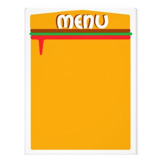 hamburger menu page flyer