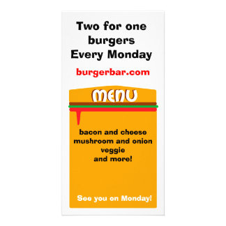 hamburger menu page picture card
