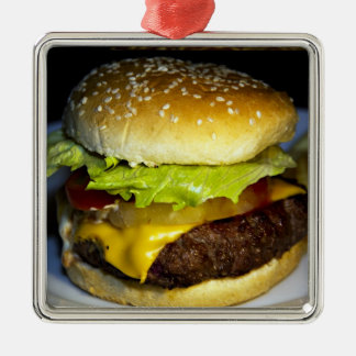 Hamburger Metal Ornament