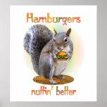 Hamburger Nut Print