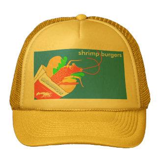 Hamburger of shrimp trucker hat