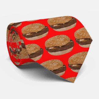 Hamburger on Red Tie