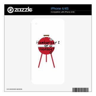 Hamburger Or Hotdogs? Decal For iPhone 4S