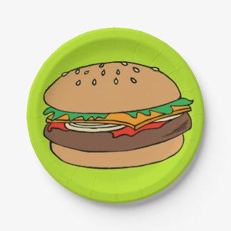 Hamburger paper plate