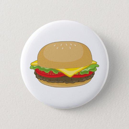 Hamburger Pinback Button