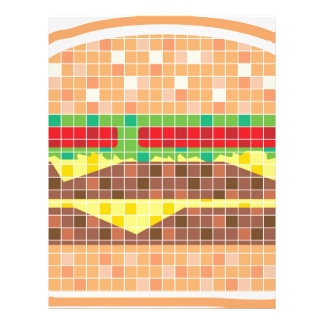 Hamburger Pixels Vector Art Letterhead