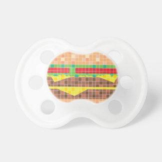 Hamburger Pixels Vector Art Pacifier