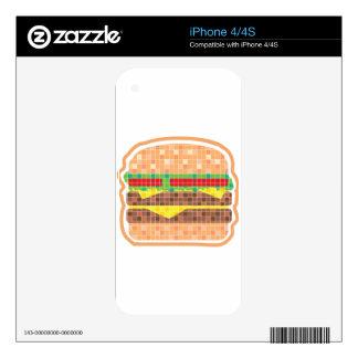 Hamburger Pixels Vector Art Skin For The iPhone 4S