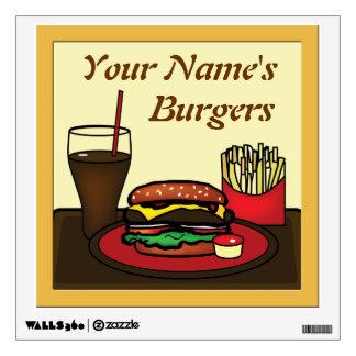 Hamburger Platter Wall Decal