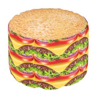 Hamburger Pouf