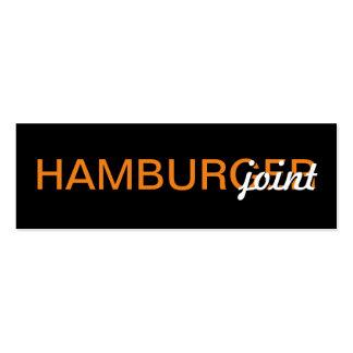 hamburger punch card
