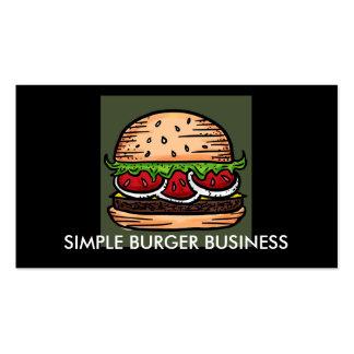 Hamburger Restaurant customizable business cards