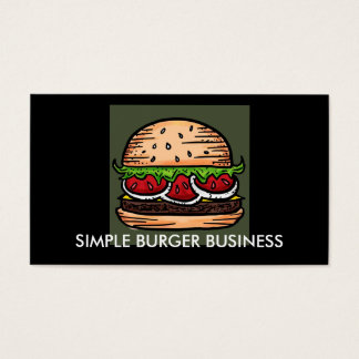 Hamburger Restaurant customizable business cards