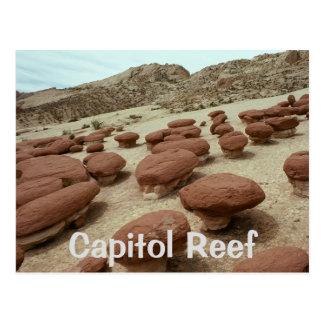Hamburger Rocks, Capitol Reef National Park, Utah Postcard