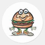 Hamburger Round Stickers