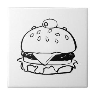 Hamburger Sandwich Ceramic Tile