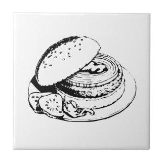 Hamburger Sandwich Ceramic Tiles